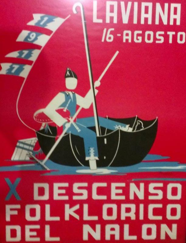 Cartel Descenso del Nalón 1977