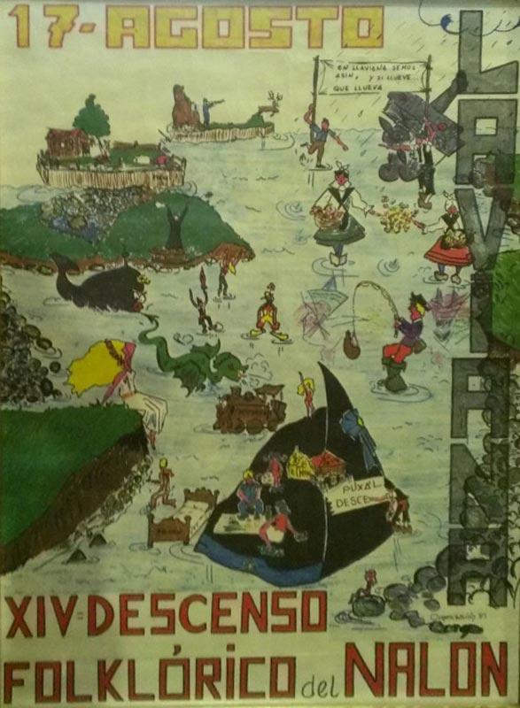 Cartel Descenso del Nalón 1981