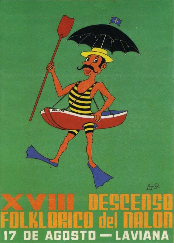 Cartel Descenso del Nalón 1985