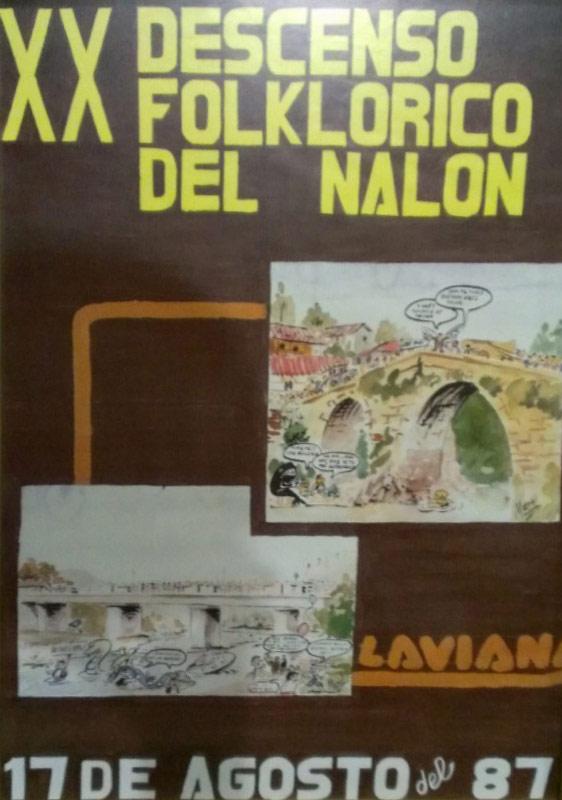 Cartel Descenso del Nalón 1987