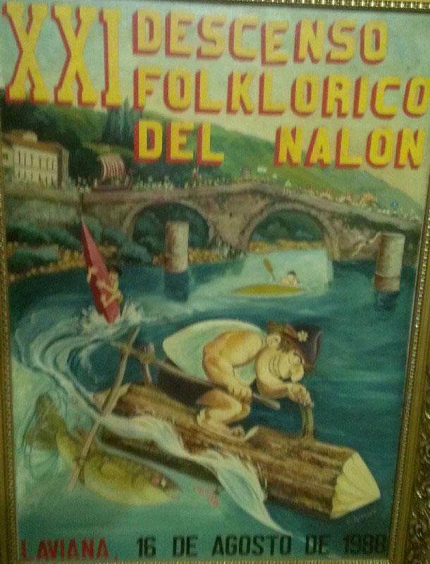 Cartel Descenso del Nalón 1988