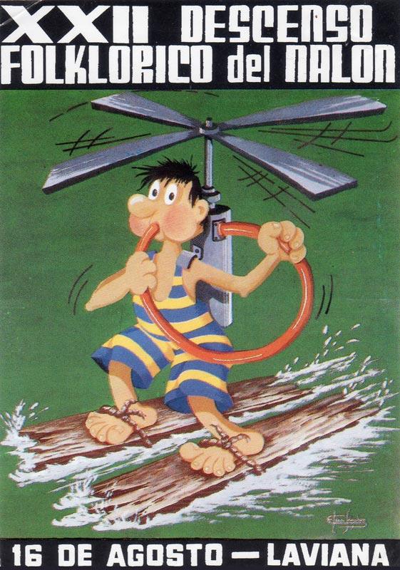 Cartel Descenso del Nalón 1989