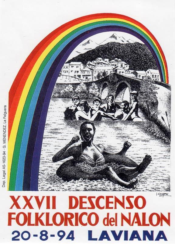 Cartel Descenso del Nalón 1994