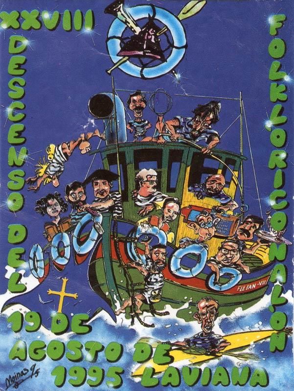 Cartel Descenso del Nalón 1995