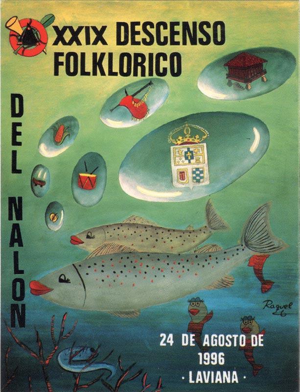 Cartel Descenso del Nalón 1996