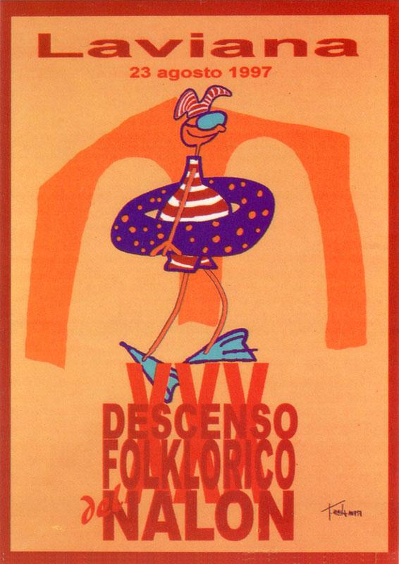 Cartel Descenso del Nalón 1997