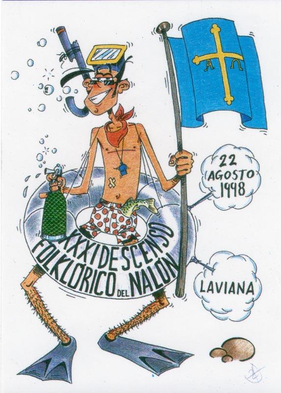 Cartel Descenso del Nalón 1998
