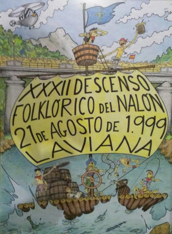 Cartel Descenso del Nalón 1999