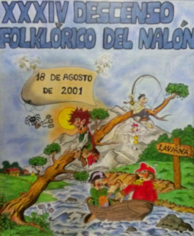 Cartel Descenso del Nalón 2001