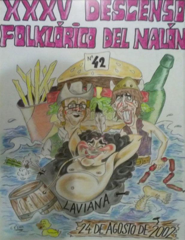 Cartel Descenso del Nalón 2002