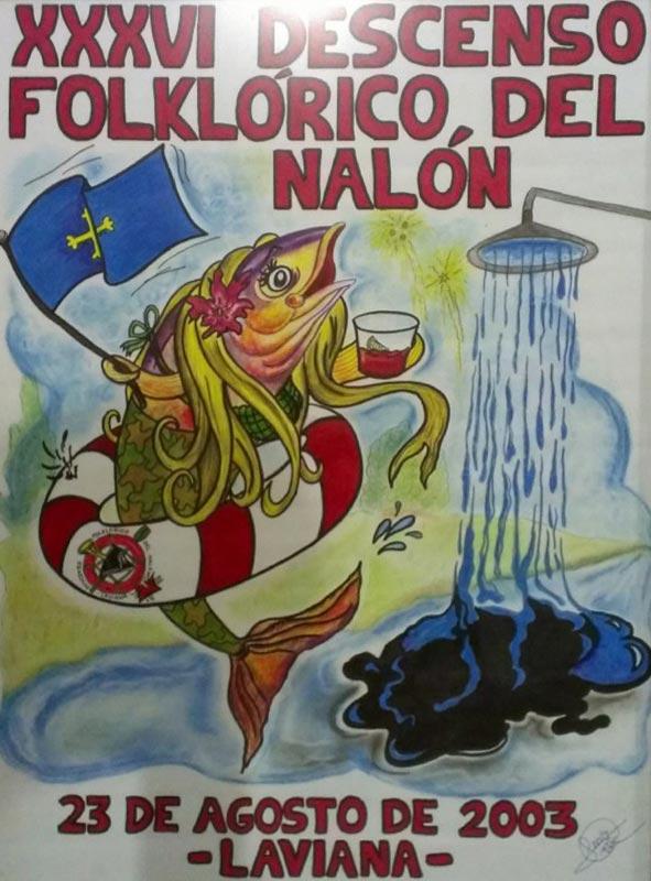 Cartel Descenso del Nalón 2003