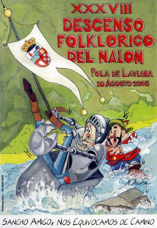 Cartel Descenso del Nalón 2005