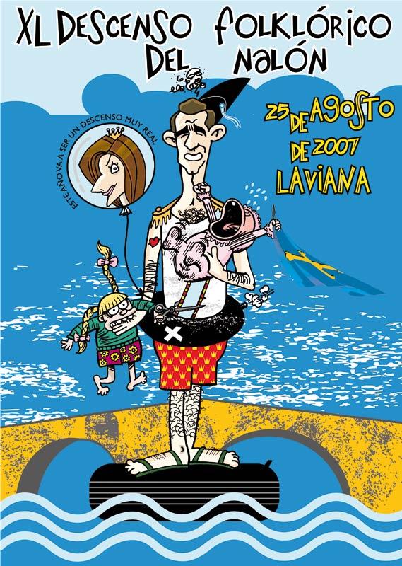 Cartel Descenso del Nalón 2007