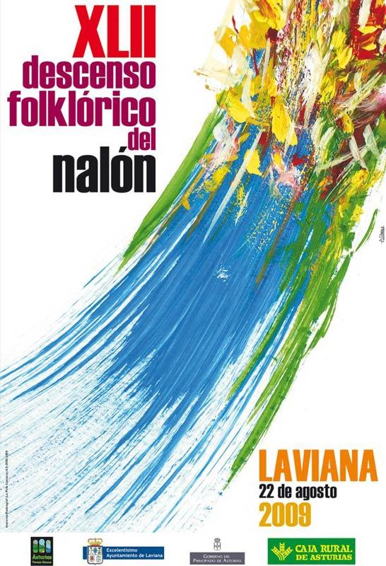 Cartel Descenso del Nalón 2009