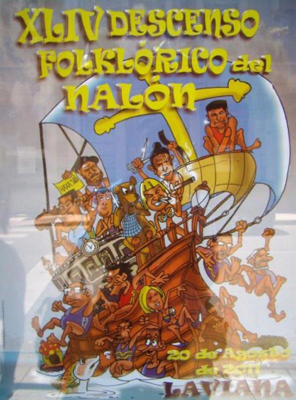 Cartel Descenso del Nalón 2011