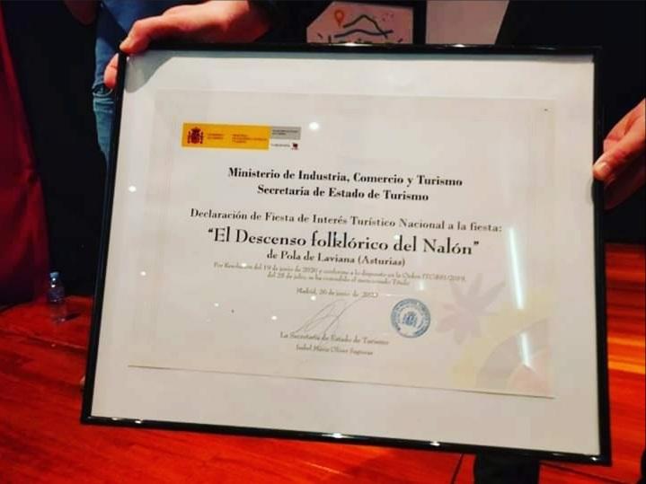 Diploma de Fiesta de Interés Turístico Nacional