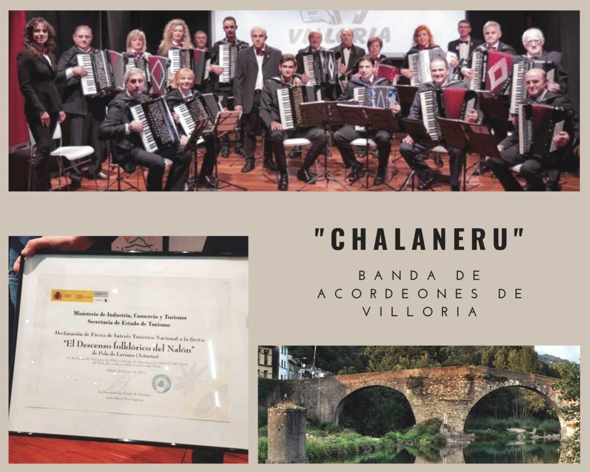 La Banda de Acordeones de Villoria dedica el Chalaneru a todos los Folklóricos